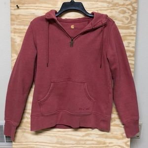 Carhartt 1/4 Zip Hooded Sweatshirt